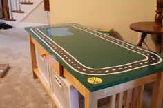 Diy rug train table with storage bins lego train tables pinterest coats nice and homemade Train table coffee table