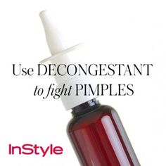 20 tips - Use Decongestant to Fight Pimples