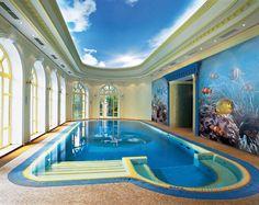 Декорирование стены в бассейне. Изображение в каталоге: http://www.fa-ro.ru/goods/10031/fresco