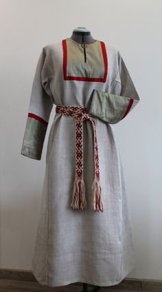 All hand stitched Early Medieval/ Viking Dress by NornasMystery