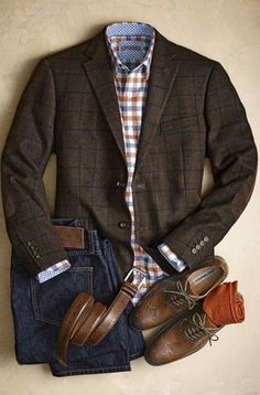 Looking for a blazer. This might have a bit more pattern than I'd like, but overall I like the outfit.