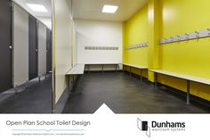 Open Plan School Washroom Design 3d Bathroom Design, Bathroom Design Inspiration, Toilet Design, Design Ideas, Small Bathroom Wallpaper, Master Suite Bathroom, Contemporary Bathroom Lighting, Bathroom Furniture, Amazing Bathrooms