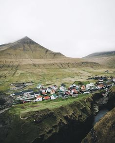 Village of Gjógv. Population less than 50. 22 minute drive to the closest grocery store. Isn't is cute?  by erlaziskasen