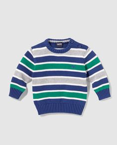 This Pin was discovered by Olv Crochet Baby Dress Pattern, Baby Cardigan Knitting Pattern, Boys Knitting Patterns Free, Knitting For Kids, Diy Crochet And Knitting, Crochet Toddler, Knit Baby Sweaters, Boys Sweaters, Baby Pullover