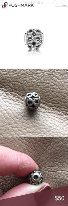 PANDORA DEDICATION CHARM Pandora authentic Dedication ESSENCE COLLECTION charm..in sterling silver with 102 sparkling bead cubic zirconia..worn once..please note: THIS CHARM WILL FIT ESSENCE COLLECTION BRACELETS ONLY..refer to pics.. Pandora Jewelry