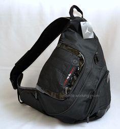 02826438fbb Nike Air Jordan Sling Backpack Tablet Laptop Gym Bag Black School Men Women  Boys #Nike