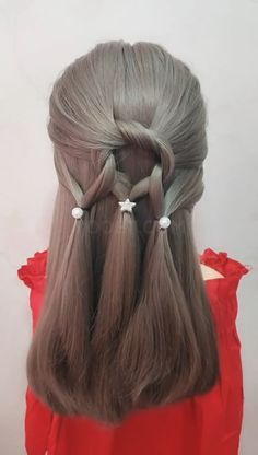Simple and beautiful hairstyle, you can learn in a short time - All For Hairstyles DIY Kawaii Hairstyles, Daily Hairstyles, Cute Hairstyles For Short Hair, Little Girl Hairstyles, Hairstyles Haircuts, Braided Hairstyles, Short Hair Styles, Girl Hair Dos, Stylish Hair