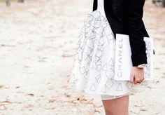 black and white, pretty skirt