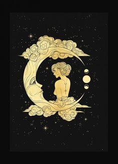 Moon Goddess – Cocorrina & Co LtdYou can find Moon art and more on our website.Moon Goddess – Cocorrina & Co Ltd Goddess Art, Moon Goddess, Goddess Tattoo, Luna Goddess, Inspiration Art, Art Inspo, Moon Dance, Bild Tattoos, Moon Art