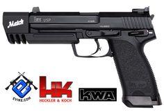Heckler & Koch / Umarex Full Metal USP Match NS2 Airsoft Gas Blowback Gun by KWA, Airsoft Guns, Gas Airsoft Pistols, KWA - Evike.com Airsoft Superstore