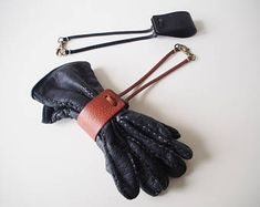 Leather Glove Holder, Leather Hat Holder