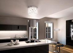 Luxia jest prawdziwym klejnotem wśród okapów: odważny design, w którym nierdzewna stal i szkło zostały ułożone we wzór szachownicy, idealnie odbija i wzmacnia światło, dając wyjątkowy efekt oświetlenia.