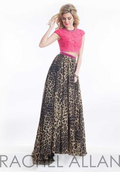robe de soiree 2015 charming cap sleeve black lace and leopard long two piece prom dresses for party gown