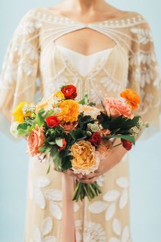 Matisse-inspired bouquet designed by Ellawah | Photo by Jennifer Fujikawa