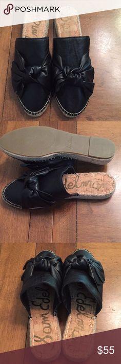 236cb55646d8 New Wmns Sam Edelman Lynda Black Leather Slip-ons Professional meets  playful in the Lynda