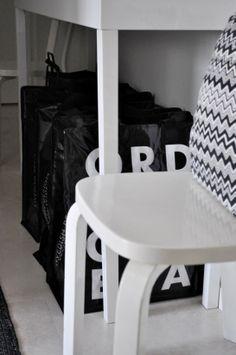 at home by rita   hallway   Ordning & Reda bag   Missoni cushion
