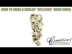 Welcome Burlap Swag How to Video