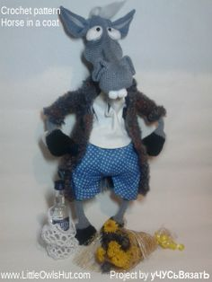"""Project by уЧУСьВязатЬ.Project Mr and Mrs horse. """"Mr and Mrs horse"""" crochet pattern designed by Astashova for LittleOwlsHut was used to make this toy. Pattern is for an experienced crocheters. Coat is KNITTed not crochet. Toy has a wire frame inside but can't stand on its own. Look at our other horse projects pins for Ideas how to decorate you lovely toy. #LittleOwlsHut, #Amigurumi, #Astashova, #CrochetPattern, #Horse, #DIY, #Pattern, #Toy"""