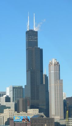 Sears Tower, Chicago - looking up to Sears tower, was the tallest building, probably not anymore