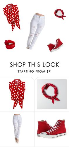 """fiery red!"" by fashionqueen-cutie ❤ liked on Polyvore featuring American Eagle Outfitters, Converse and Charlotte Tilbury"