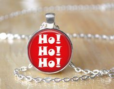 Ho Ho Ho Santa Claus Quote Holiday by ShakespearesSisters on Etsy