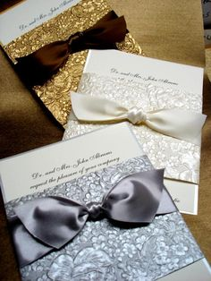 handmade+wedding+invitations | Exquisite handmade decorative band wrapped around 2 layer card. Bands ...