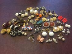 38 Prs Lots Signed Vintage Mixed Style Clip Screw Pierced Earring Lot Collection  | eBay