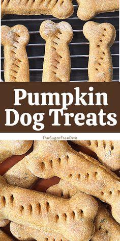 Home Made Dog Treats Recipe, Dog Cookie Recipes, Easy Dog Treat Recipes, Homemade Dog Cookies, Dog Biscuit Recipes, Homemade Dog Food, Dog Food Recipes, Pumpkin Dog Treats Homemade, Healthy Homemade Dog Treats