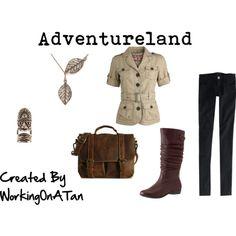 Adventureland, created by workingonatan #Disney #DisneyWorld #WaltDisneyWorld #WDW #MagicKingdom #Polyvore #Clothes #Outfits