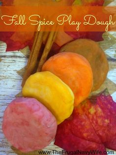 DIY Fall Spice Play Dough - Perfect frugal fun for those cool fall nights!