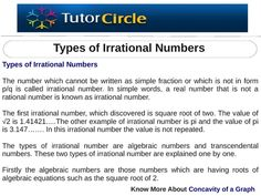 The number which cannot be written as simple fraction or which is not in form p/q is called irrational number. In simple words, a real number that is not a rational number is known as irrational number. The first irrational number, which discovered is squ Number Synchronicity, Value Of Pi, Natural Number, Irrational Numbers, Real Numbers, Square Roots, Integers, Simple Words, Fractions