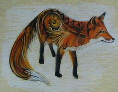 fox tattoo, I wouldn't actually get one but if I were, this is pretty cool!  :)