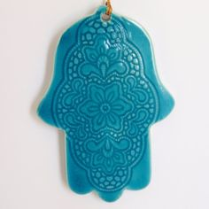 Home Decor handmade hamsa turquoise color ornament by light4you, $14.95