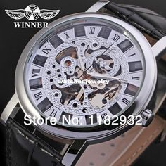 Hot Sale! 2014 Winner New Mechanical Men Silver Color Skeleton Dress Watch with Gift Box Online with $17.61/Piece on Watchesjewelry's Store | DHgate.com