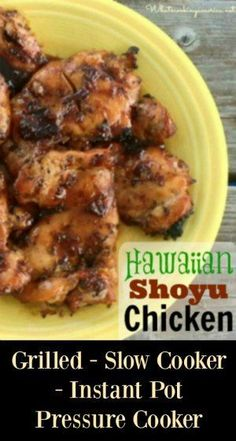 Hawaiian shoyu chicken recipe can be barbecued on the grill, cooked the slow cooker or Instant Pot Pressure Cooker. Crockpot Recipes, Chicken Recipes, Cooking Recipes, Meal Recipes, Island Chicken Recipe, Chicken Ideas, Recipe Chicken, What's Cooking, Instant Pot Pressure Cooker