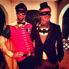 Aw! Jesse Tyler Ferguson and Justin Mikita dressed up as Batman and Robin