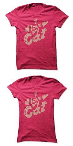Cat T-shirt Crown I Love My Cat (light Pink) #80s #cat #shirt #cat #shirt #with #tail #on #back #herding #cats #t #shirt #the #cats #meow #t #shirt