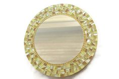 Gold Round Mosaic Mirror by GreenStreetMosaics on Etsy, $160.00