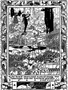 Alice's Adventures in Wonderland illustrator Charles Robinson, 1907