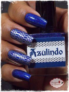 Azulindo - DRK Nails e carimbada com DRK Designer 2