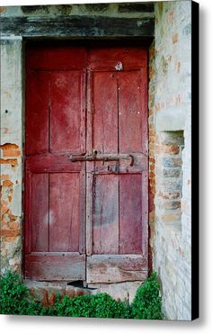 Old Red Door Canvas Print / Canvas Art By Dorothy Berry-lound