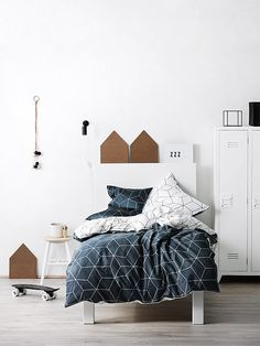 Sine Slate Quilt Covers Online - Shop Bed Linen