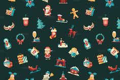 SALE! 25 Xmas Icons + Bonus Images by Decorwith.me Shop on Creative Market