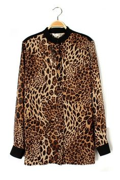 Never go out of style with Leopard Print Shirt!