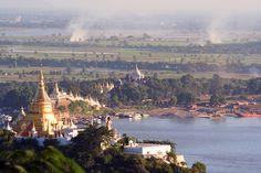 Sagaing Hills near Mandalay, Myanmar Burma