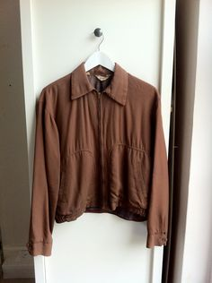 Vintage 1940's mens casual fully lined jacket M. £40.00, via Etsy.