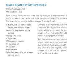 Black Bean Dip With Parsley