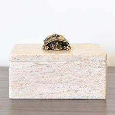 Beetle Travertine Box // summerhousestyle.com