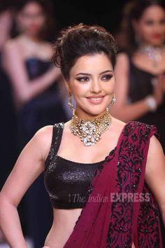 Russian  Bollywood Actor Kristina Akheeva at India International Jewellery Week 2013. (IE Photo: Varinder Chawla)