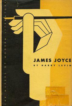 "Alvin Lustig book jacket design, ""James Joyce"" by Harry Levin. Vintage Graphic Design, Graphic Design Typography, Graphic Design Illustration, Graphic Design Inspiration, Best Book Covers, Vintage Book Covers, Beautiful Book Covers, Ex Libris, James Joyce Books"